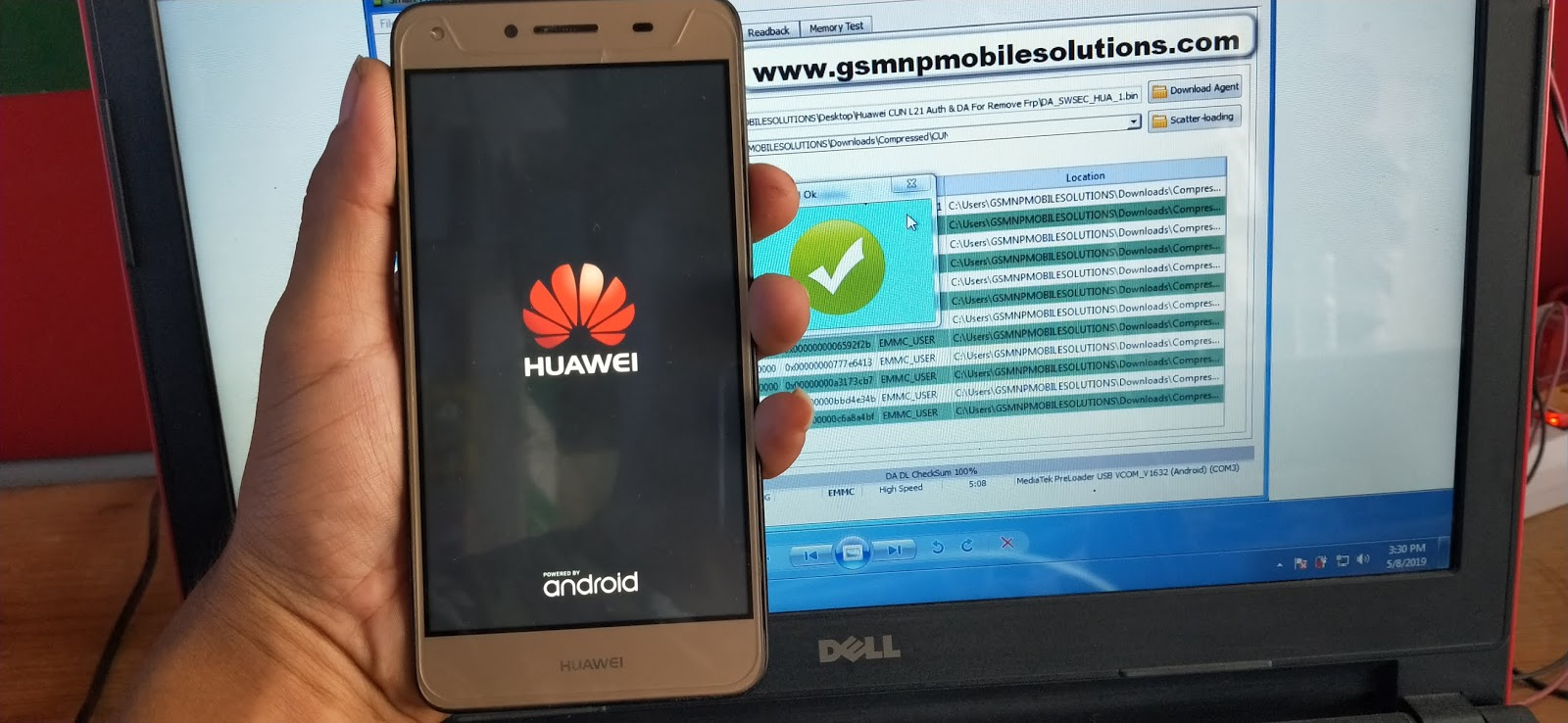 Huawei Y5ii CUN-L21 After Flash Dead Recover With Official