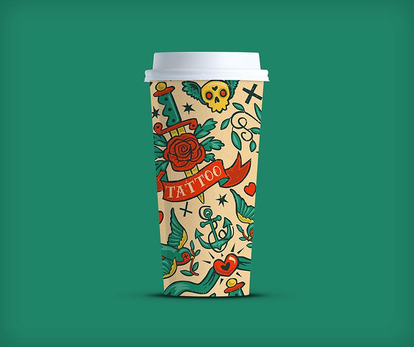 4K Coffee Cup PSD mockup