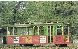 Image: Post Card: CALDWELL'S OLD TOWN TROLLEY, Treasure Valley, Idaho, Photo by Sinclair Shutters, Caldwell, ID, #111394