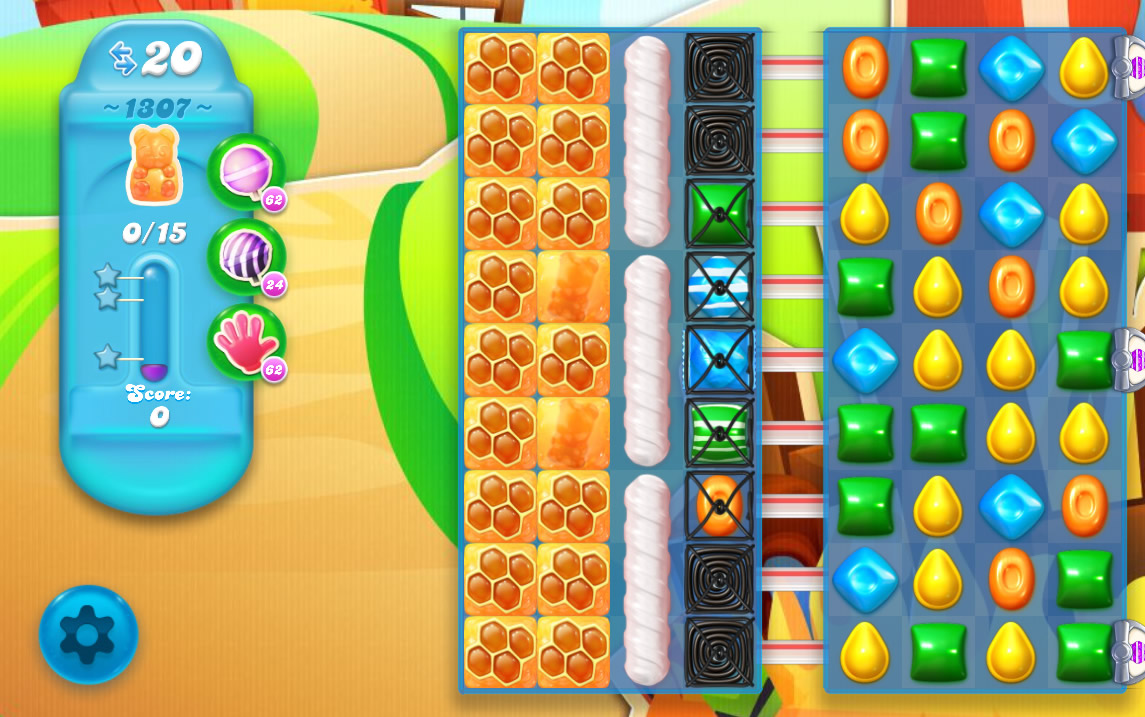 Candy Crush Soda Saga level 1307