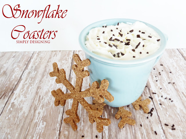 DIY Snowflake Coasters | #diygift #snowflakecraft #fabulouslyfestive