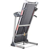 Folding Soft Drop Deck on Sunny Health & Fitness SF-T7603 treadmill
