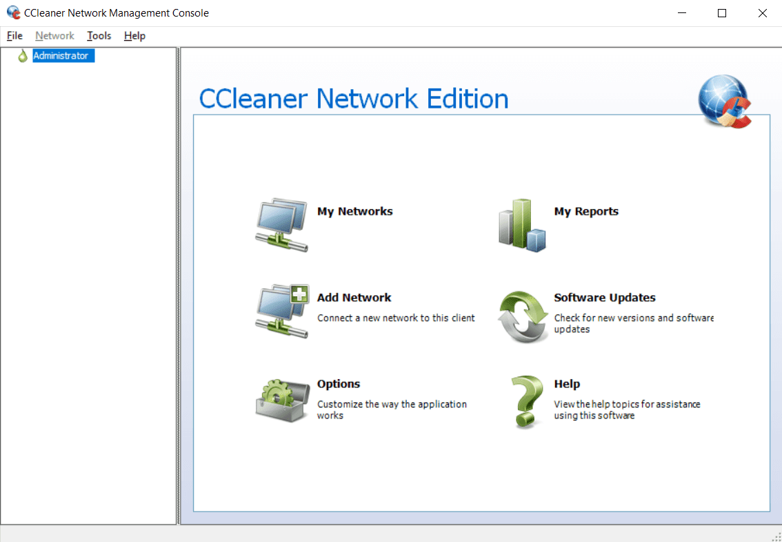 CCleaner Network Edition Management Console Screenshot