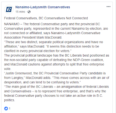 Andrew Wilkinson, along with many of his fellow provincial LIBERAL members, are continually shelling out wads of CASH not to federal Conservatives, but instead to the Federal LIBERAL Party
