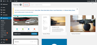 Add new wordpress