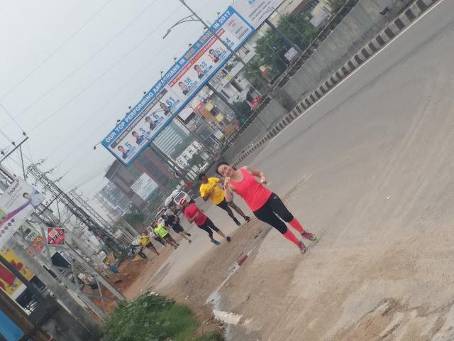 Performax organised training run today, under the initiative of Airtel Hyderabad Marathon 2017
