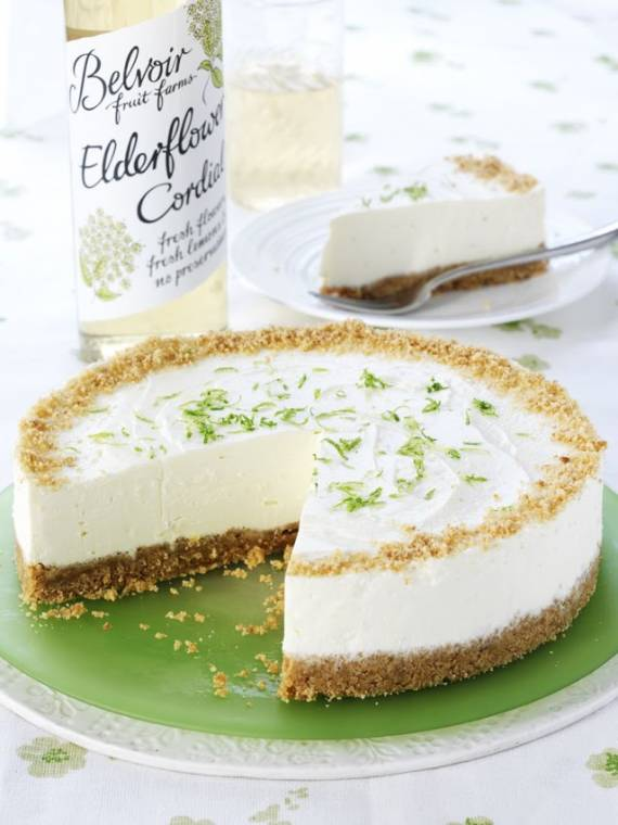 How To Make An Elderflower And Lime Cheesecake