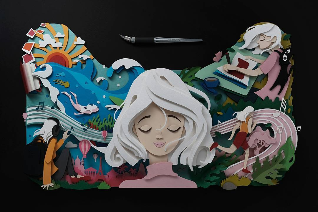paper cut illustration art 1