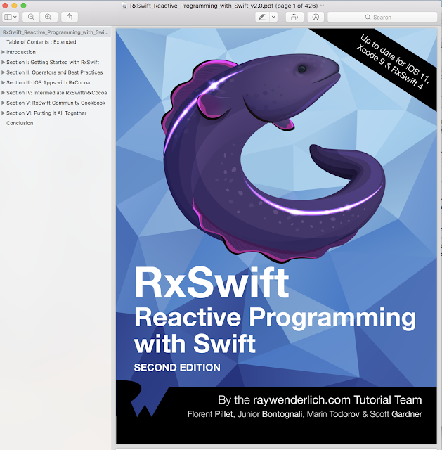 RxSwift Reactive Programming update swift 4 and ios 11