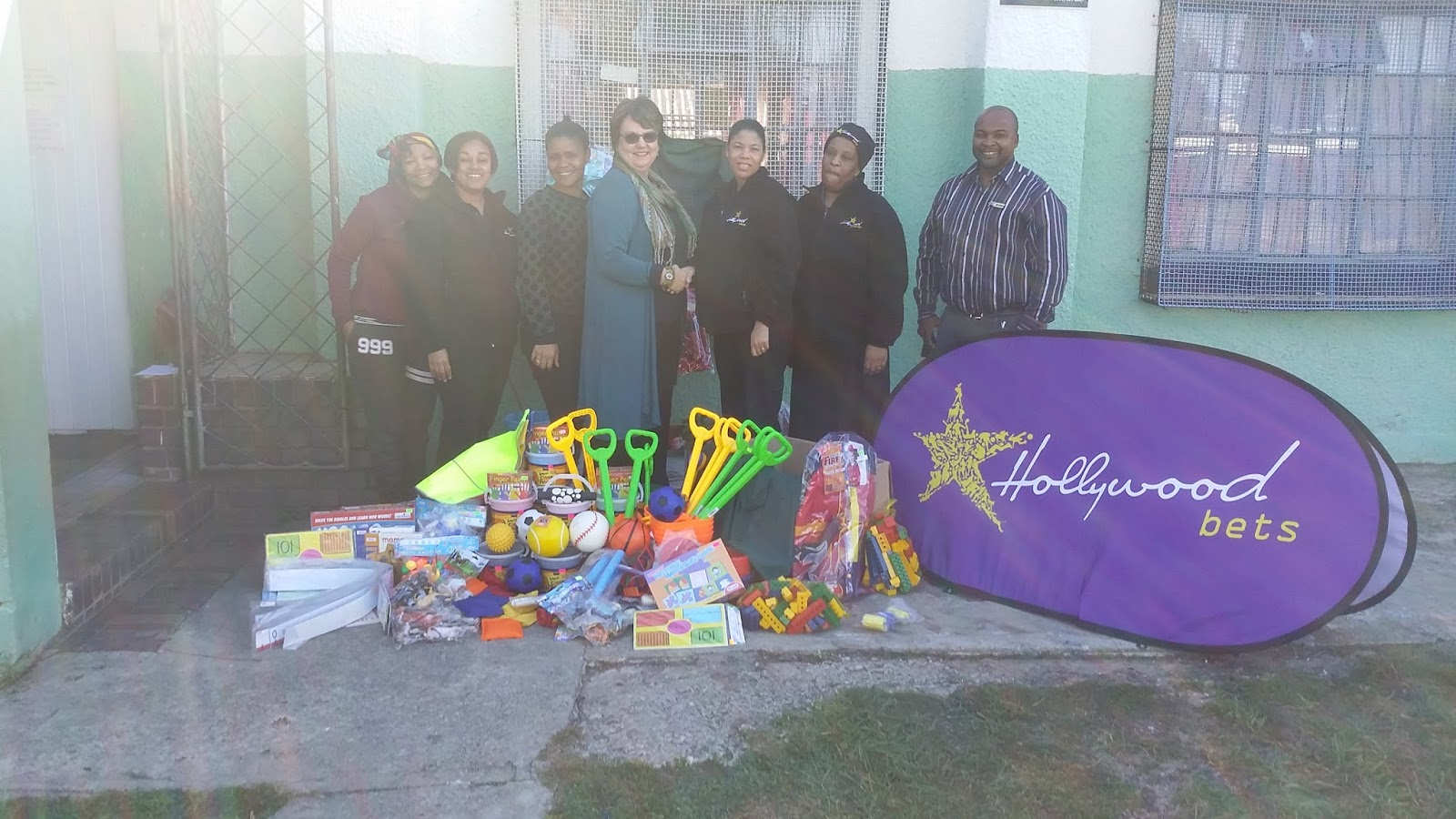 Hollywoodbets Newton Park donated educational toys to Uviwe Child & Youth Services