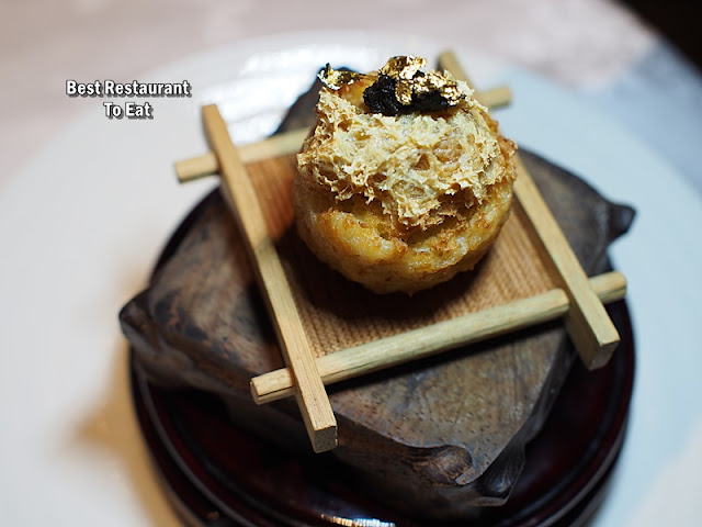CNY 2019 Set Menu - Deep-fried Bean Curd stuffed with French Goose Liver and Truffle Paste