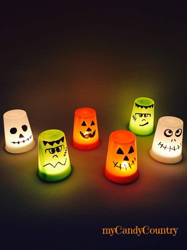 Lanterne di halloween fai da te idee creative riciclo for Lavori creativi fai da te