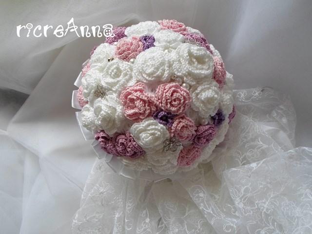 Bouquet Sposa Uncinetto Tutorial.Ricreanna Handmade Il Bouquet Della Sposa All Uncinetto