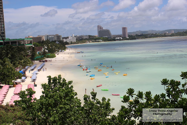 A view of Tumon Bay in Reef Hotel