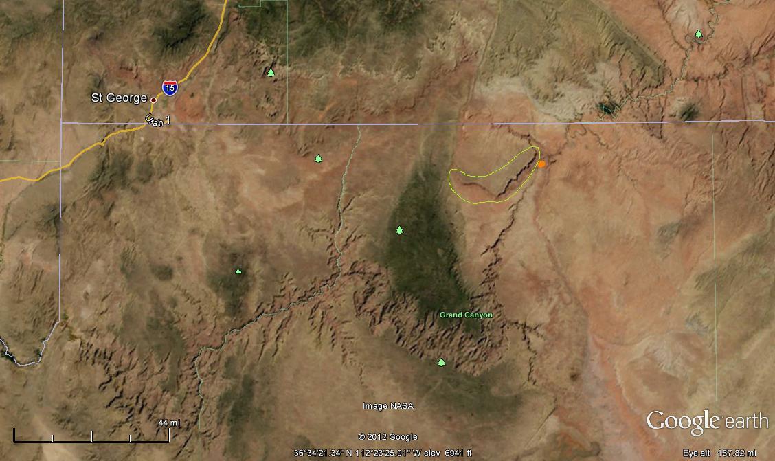 Map Of Arizona Strip.American Voyages Arizona Strip Country Vermilion Cliffs National