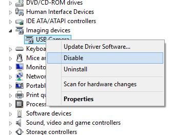 deaktivere laptop webcam i Windows 10