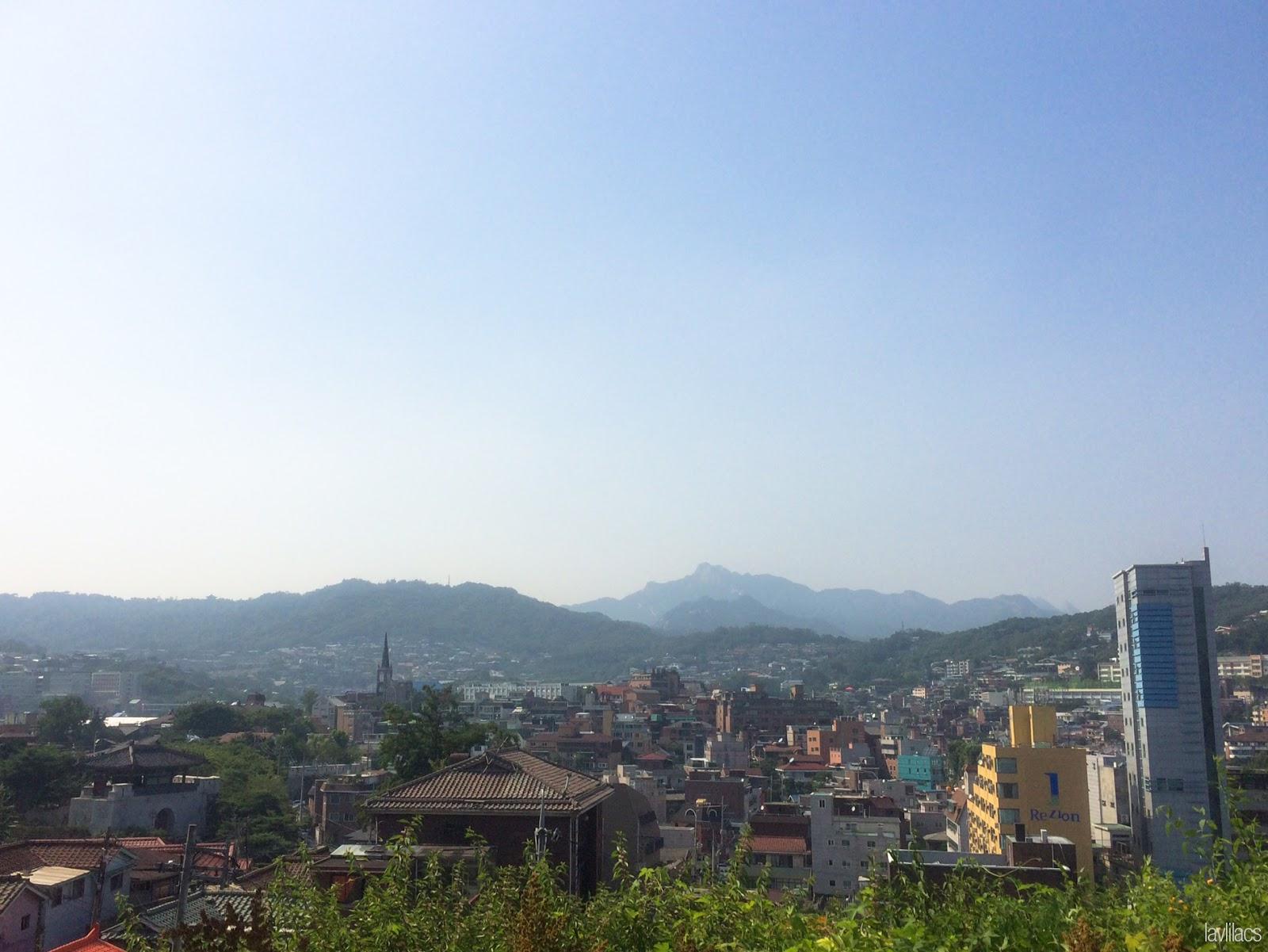 Seoul, Korea - Summer Study Abroad 2014 - Seoul Fortress Trail - Naksan Trail Course - View