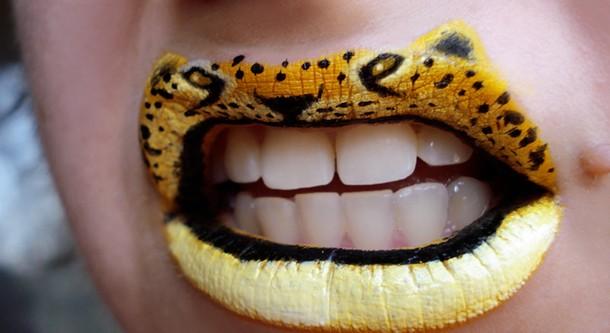 Incredible Lip Painting Art