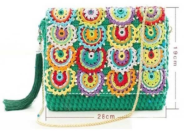 conjunto, bolso, cartera, pendientes, colgantes, grannys, crochet