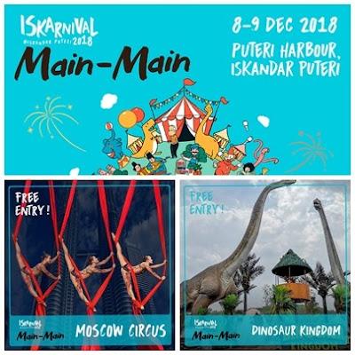 Cara Dapatkan Tiket PERCUMA ke Dinosaur Kingdom & The Moscow Circus (8-9 Dis 2018)