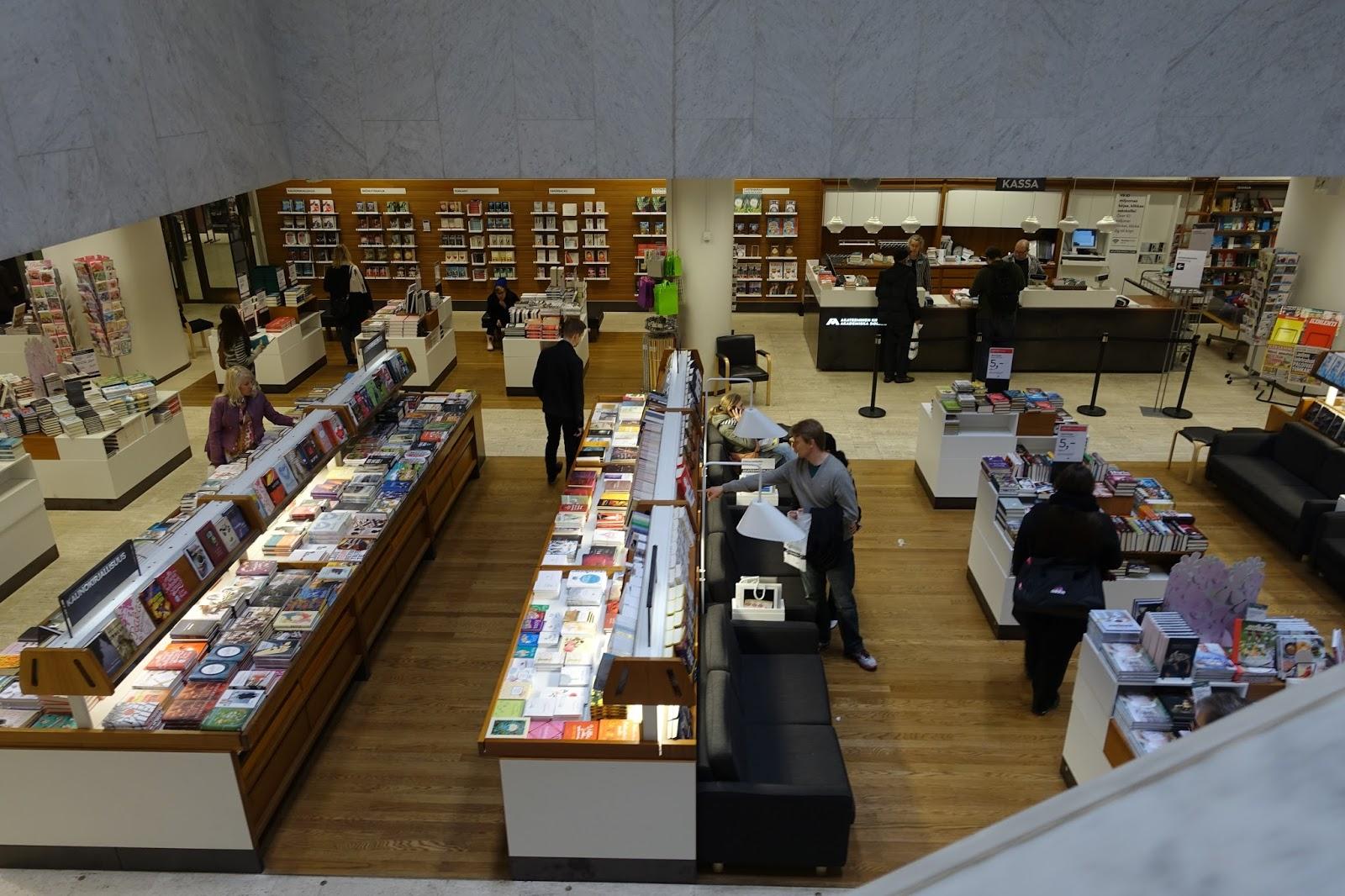 アカデミア書店(Akateeminen Kirjakauppa)1階