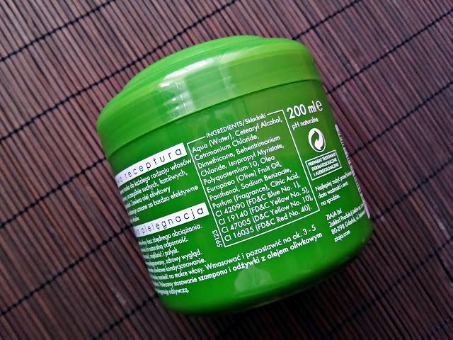 Ziaja - Naturalna, oliwkowa maska regenerująca do włosów, opis opakowania