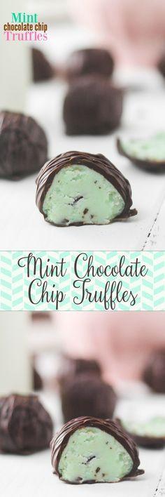 Mint Chocolate Chip Truffles