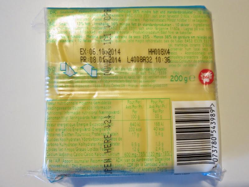 Queijo fundido light Vaca Que Ri - informação nutricional e ingredientes