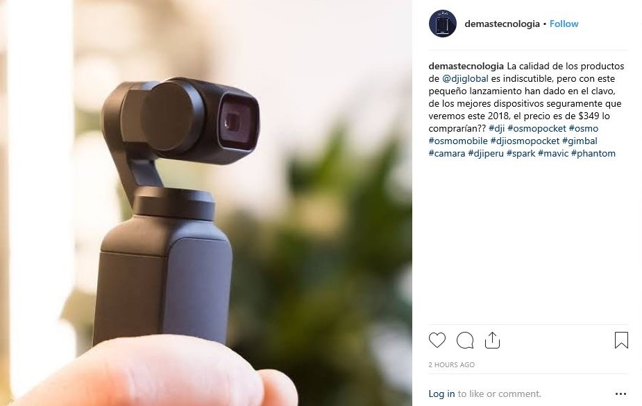 The DJI Osmo Pocket Stabilized Camera