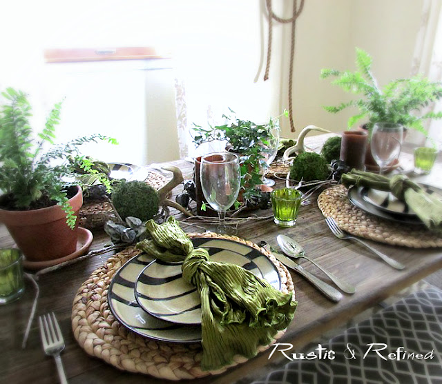 rustic tablescape for Mother's Day