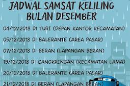 Jdawal Samsat Keliling Kabupaten Sleman Bulan Desember 2018