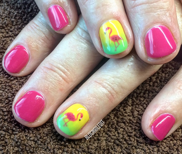 Flamingo Nails by Nailed It @ www.blognailedit.co