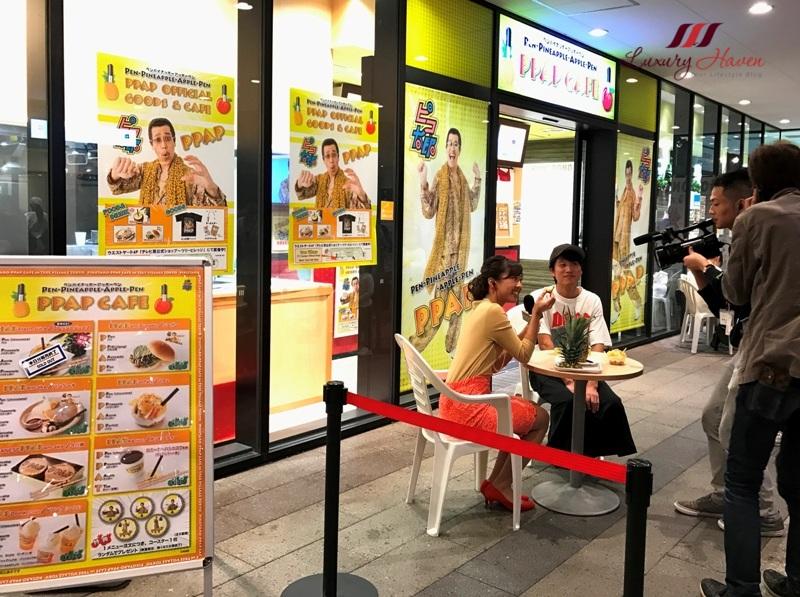 tokyo skytree pen pneapple apple pen cafe