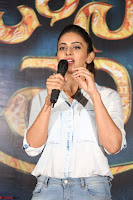 Manjusha and Rakul Preet Singh At Jaya Janaki Nayaka le Logo Launch ~  Exclusive 045.JPG