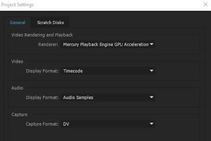 Mengatasi Gagal Render Adobe Premier Pro CC
