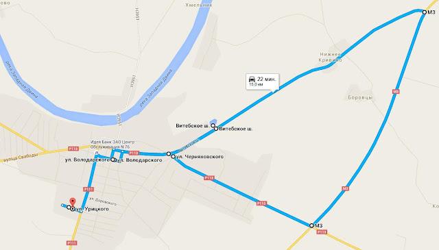 карта Бешенковичей