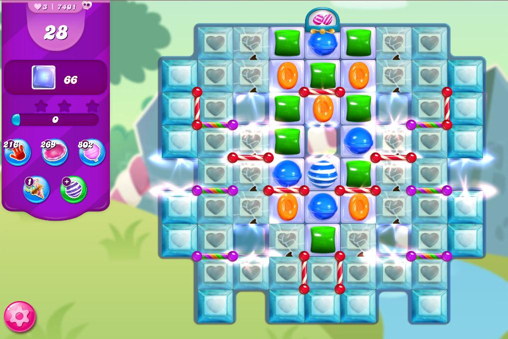 Candy Crush Saga level 7401