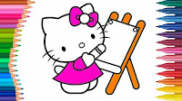 Dunia anak itu menarik juga penuh warna sehingga sebagai guru juga orang bau tanah harus mengert Kumpulan Gambar Menarik Mewarnai Pemandangan Alam untuk Anak