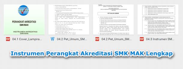 Instrumen Perangkat Akreditasi SMK MAK Lengkap