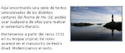 http://rociomadrid.blogia.com/2009/032401-selecci-n-de-textos-del-poema-de-mio-cid.php