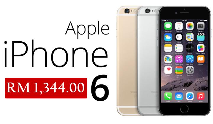 Harga Apple iPhone 6 Baru Hanya RM1344