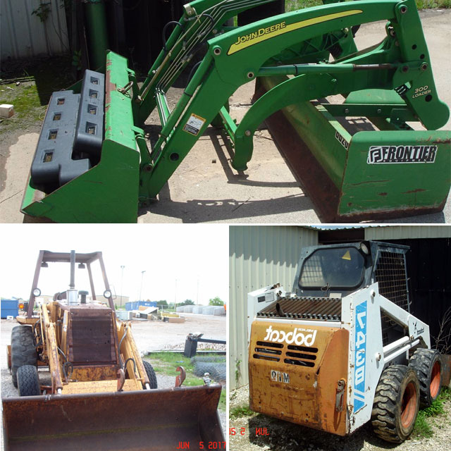 Case tractor, Bobcat, accessories - Government Auction