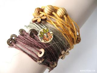 pulseras, cuerdas, bolas, madera, brazaletes, bisutería, tutoriales