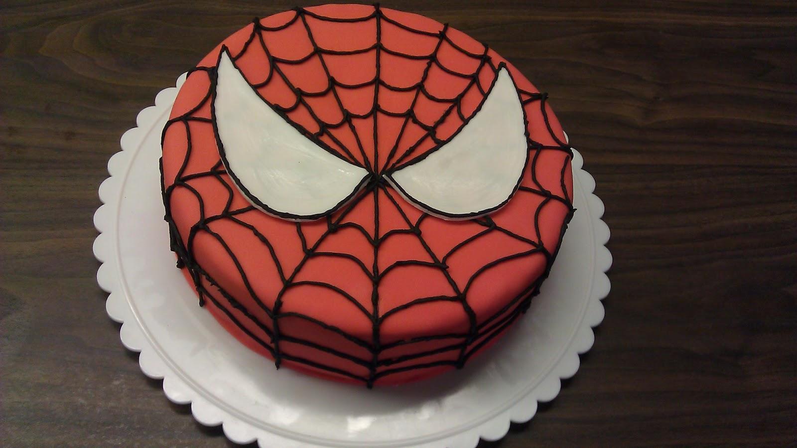 Homemade Spiderman Birthday Cake Ideas