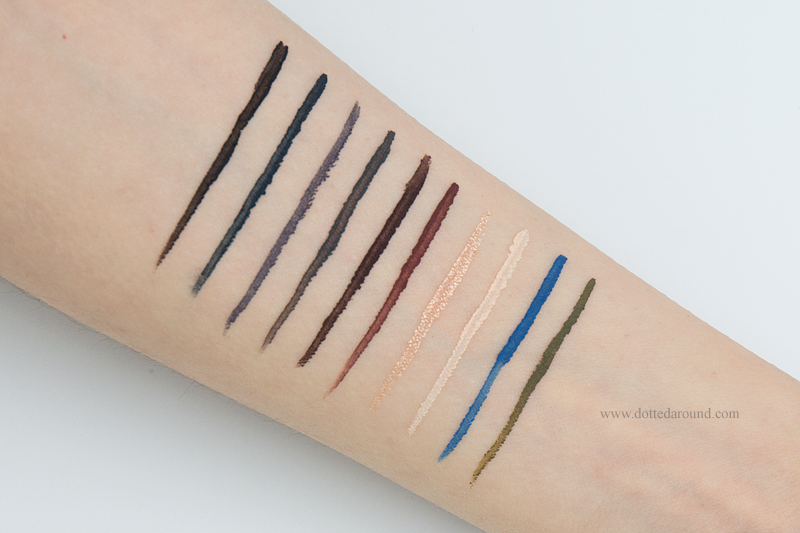 Neve Cosmetics eyeliner swatch ink me