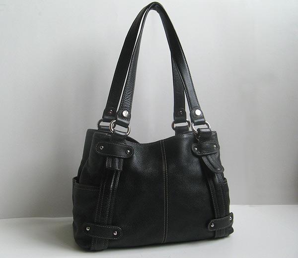 Tignanello Black Leather Hobo Handbag Large Black Leather Tote