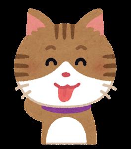 猫のイラスト「照れ」