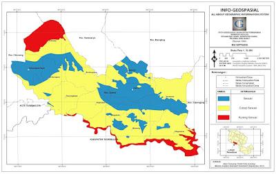 Peta Kesesuaian Permukiman berbasis Geologi Kecamatan Ciamis
