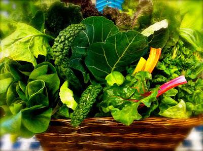 أغذية لتقوية النظر  Leafy-greens-vegetables