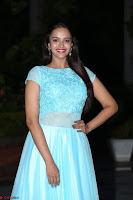 Pujita Ponnada in transparent sky blue dress at Darshakudu pre release ~  Exclusive Celebrities Galleries 098.JPG